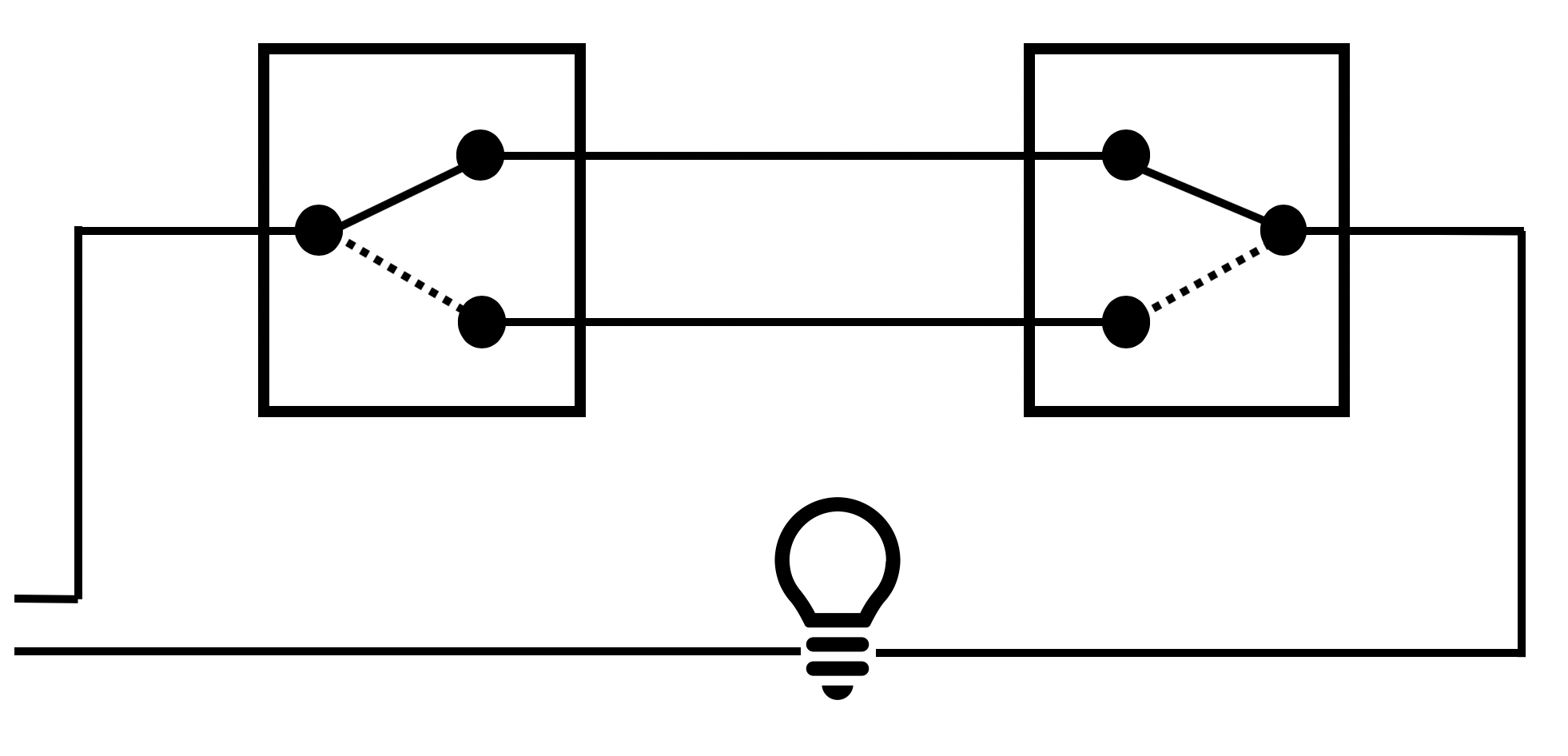 Three way switch Circuit diagram